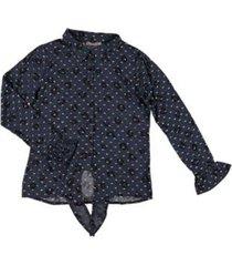 03608-40 blouse knot ruffle cuff
