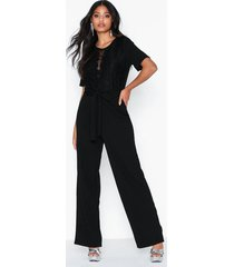 pieces pcjackie 2/4 lace jumpsuit pb jumpsuits