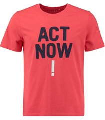 t-shirt baume act rood
