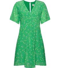 luna korte jurk groen fall winter spring summer