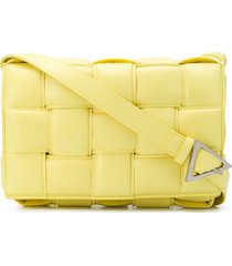 bottega veneta padded cassette crossbody bag - yellow
