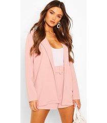 blazer & shorts met ceintuur setje, pink