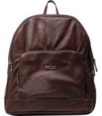 mochila de couro recuo fashion bag chocolate
