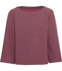 jacquard-shirt in pied-de-poule van bio-katoen met boothals, grijs-motief 36/38