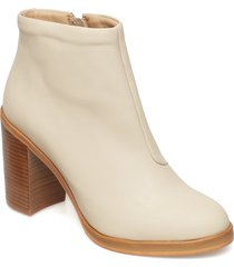 bridge zip boot shoes boots ankle boots ankle boots with heel beige royal republiq