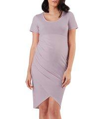 women's stowaway collection becca maternity dress, size small - purple