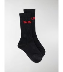balenciaga logo ribbed socks