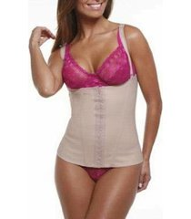 cinta modeladora emborrachada feminina body corselet esbelt - feminino
