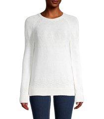loro piana women's snowbells cashmere sweater - caviar - size 44 (10)