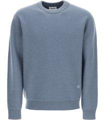 kenzo crew neck sweater k logo