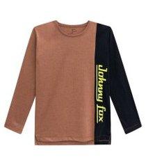camiseta ml drive in marrom johnny fox 8 marrom