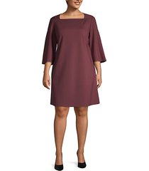 plus bell-sleeve a-line dress