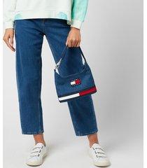 tommy jeans women's tjw heritage shoulder bag denim - denim