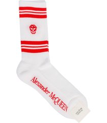 alexander mcqueen striped skull sport socks