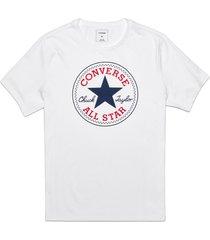converse camiseta chuck patch para hombre white