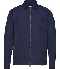 nylon overshirt - grs/vegan dun jack blauw knowledge cotton apparel