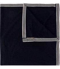 faliero sarti horizontal stripe scarf - blue