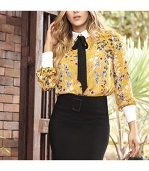 blusa eimy amarillo para mujer croydon