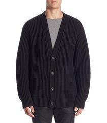 vince men's regular-fit wool & cashmere cardigan - burnt wood - size xxl