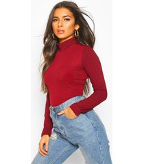 rib combo top with shoulder button detail, wine