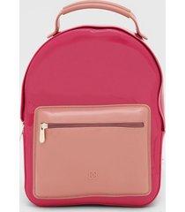mochila petite jolie bicolor rosa