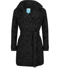 happyrainydays regenjas trenchcoat bonita dot black off white