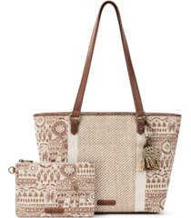 sakroots meadow medium tote
