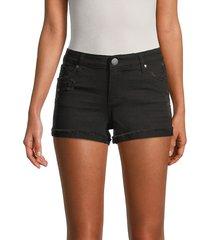sts blue women's molly mid-rise denim shorts - black - size 28 (4-6)