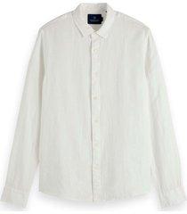 scotch & soda classic linnen dress shirt white wit