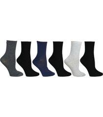 steve madden womens 6 pack solid crew socks, online only