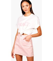tall slogan pastel t-shirt, white