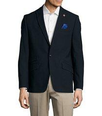 textured wool-blend jacket