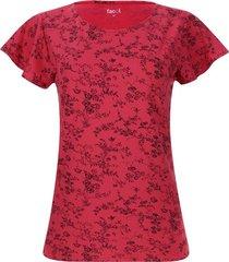 camiseta mujer flor y tallo