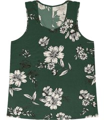 regata feminina floral rovitex verde