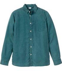 camicia sostenibile in lyocell a maniche lunghe (petrolio) - john baner jeanswear