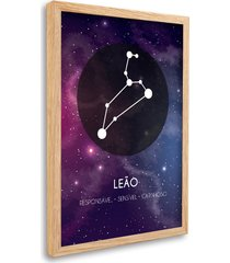 quadro oppen house  signos leão zodíaco horóscopo natural e vidro decorativo