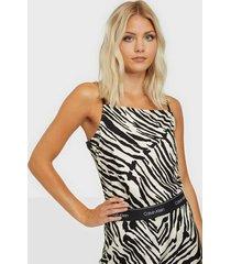 calvin klein prt zebra cami top linnen