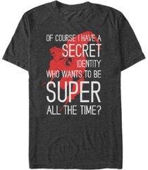 disney pixar men's incredibles secret identity, short sleeve t-shirt