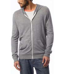 alternative apparel men's basic zip hoodie