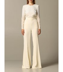 elisabetta franchi dress long elisabetta franchi jumpsuit with embroidery