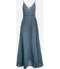 bottega veneta cotton knit dress with striped pattern