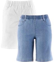 shorts elasticizzati (pacco da 2) (bianco) - bpc bonprix collection