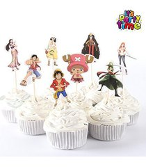 new luffy zoro one piece japan anime cupcake toppers party favors