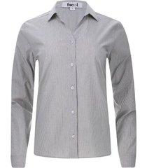 camisa mujer líneas delgadas color negro, talla 10
