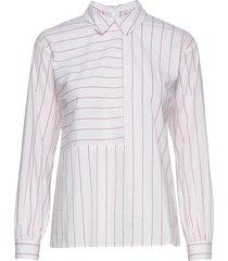 nuabbie blouse långärmad skjorta rosa nümph