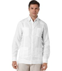 cubavera long sleeve non embroidered guayabera shirt
