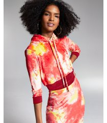 misa hylton for inc cropped tie-dyed hoodie, created for macy's