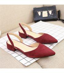 sandalias de mujer con punta de gamuza pisos de verano
