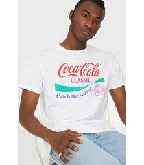 jack & jones jorfestival licens tee ss crew neck t-shirts & linnen vit