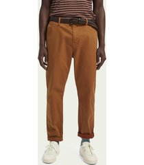 scotch & soda fave – chino van biologisch katoen | loose tapered fit